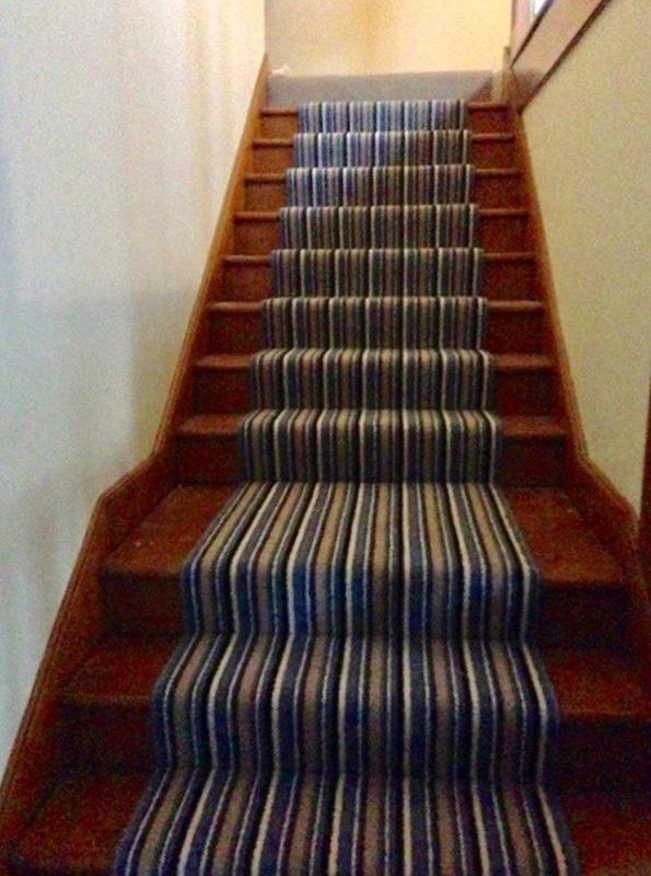 Stripe Carpet on Stairs 2