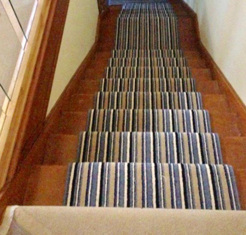 Stripe Carpet on Stairs 3